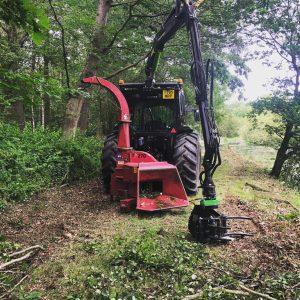 TP 270K Crane Feed PTO Wood Chipper