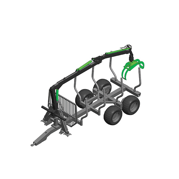 Botex Eco-8 Forestry Timber Trailer
