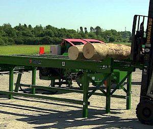 Posch 3.2m Hydraulic Log Deck Infeed Table