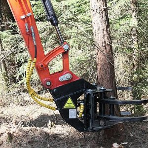 JAK 300 Excavator Tree Shear Grapple
