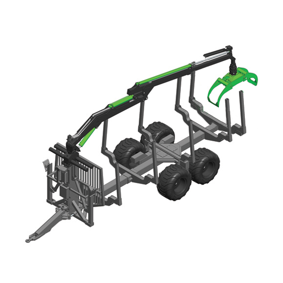 Botex XL PRO-14 Forestry Timber Trailer