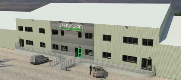 Construction work – Customer Showroom, Parts & Offices building