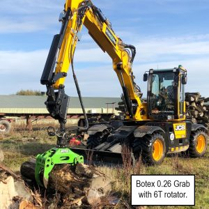 Botex Forestry Timber Grapple Grab with Rotator and Quick-Hitch